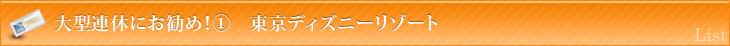 大型連休にお勧め!① 東京ディズニーリゾート